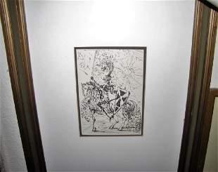 SALVADOR DALI 19041989 ETCHING FRAMED