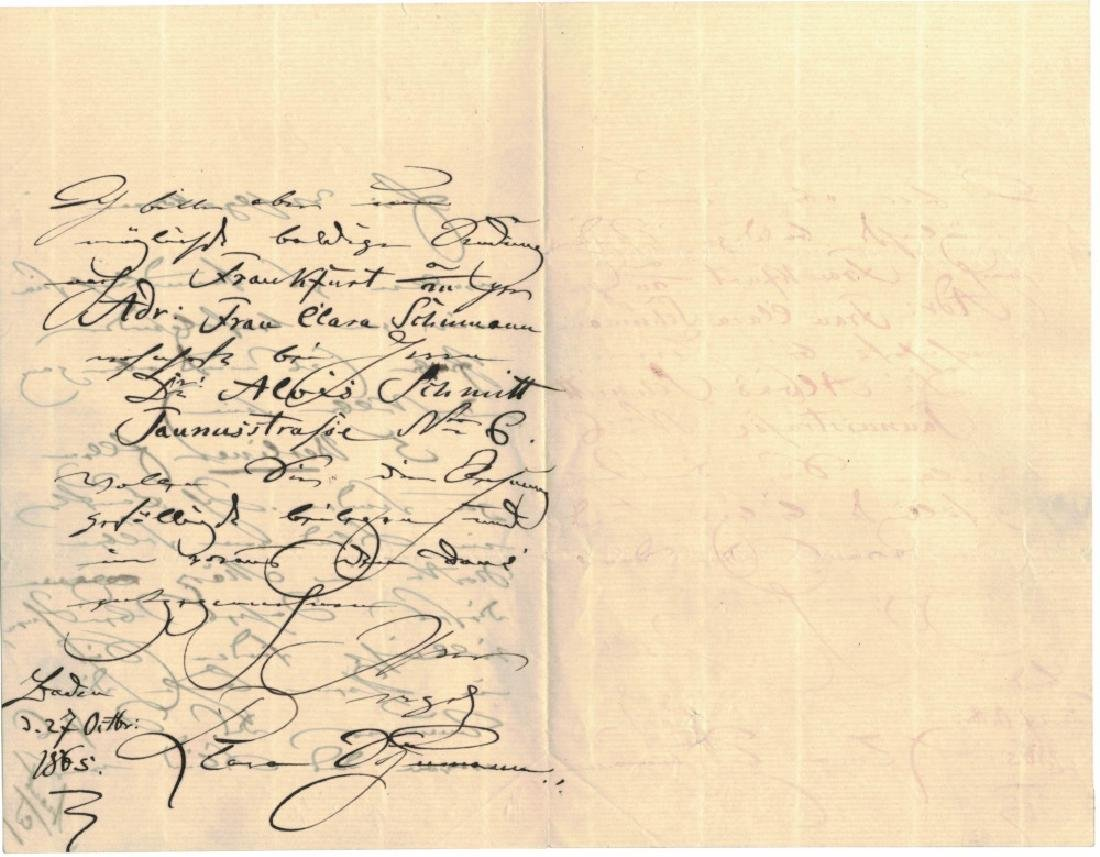 LOT OF (3) SIGNED LETTERS, INCL. CLARA SCHUMANN - 4