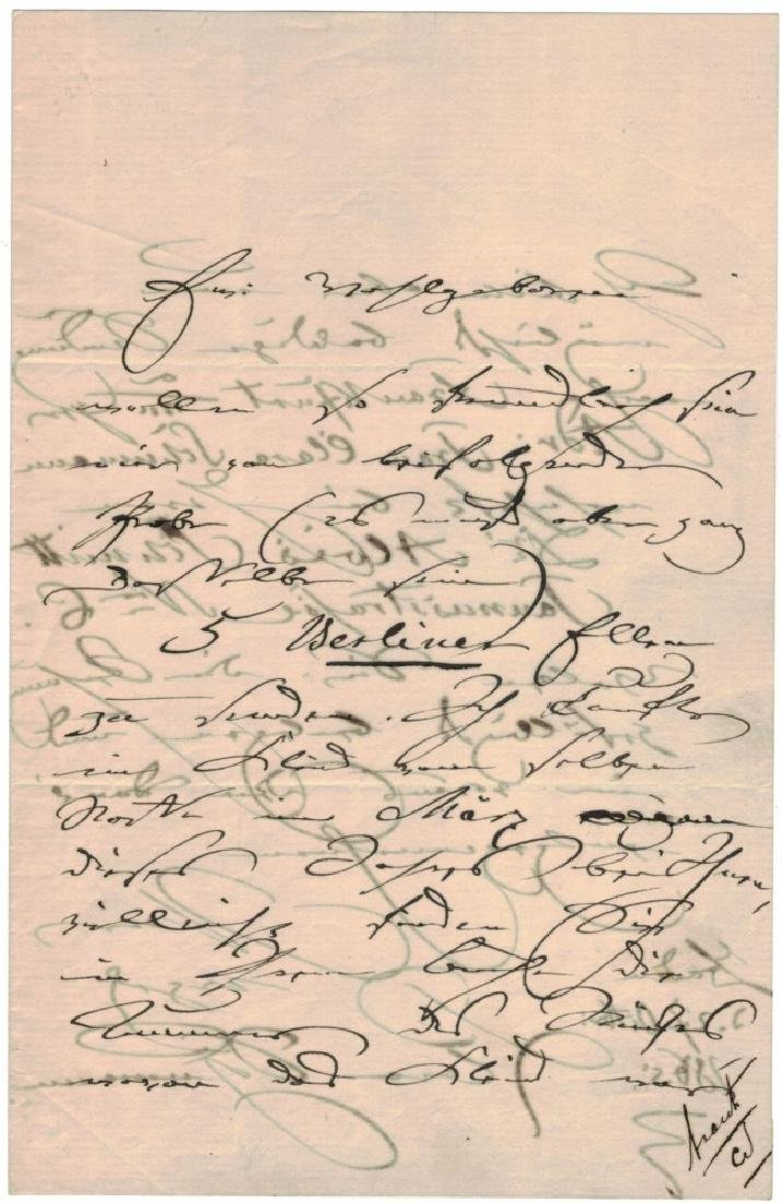 LOT OF (3) SIGNED LETTERS, INCL. CLARA SCHUMANN - 5