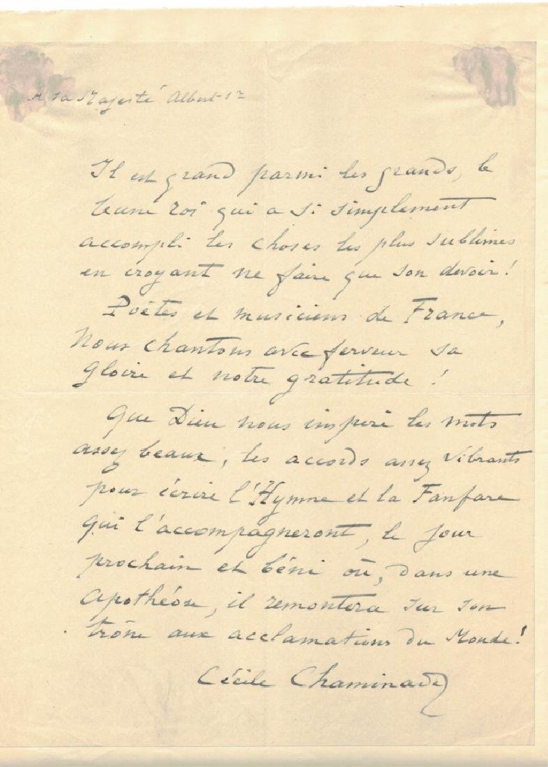 LOT OF (3) SIGNED LETTERS, INCL. CLARA SCHUMANN - 7