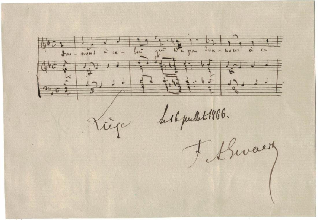 LOT OF (5) MUSICIAN SIGNED MUSICAL QUOTES & NOTES