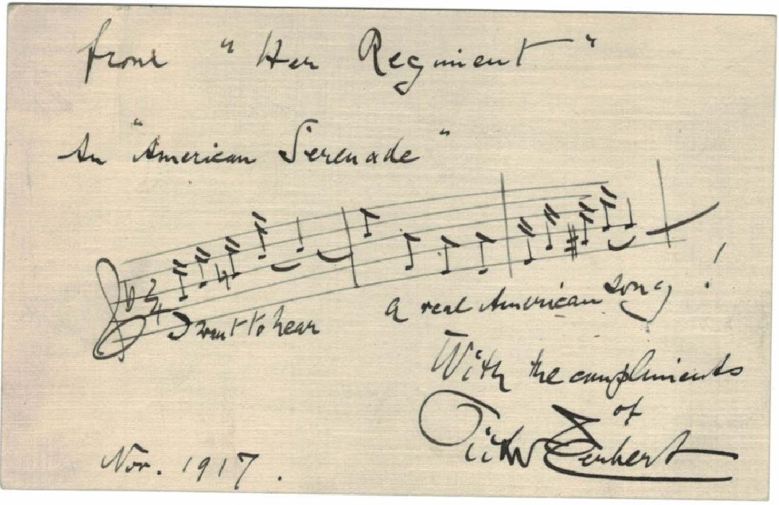 LOT OF (5) MUSICIAN SIGNED MUSICAL QUOTES & NOTES - 2