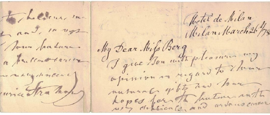 LOT OF (5) MUSICIAN SIGNED MUSICAL QUOTES & NOTES - 7