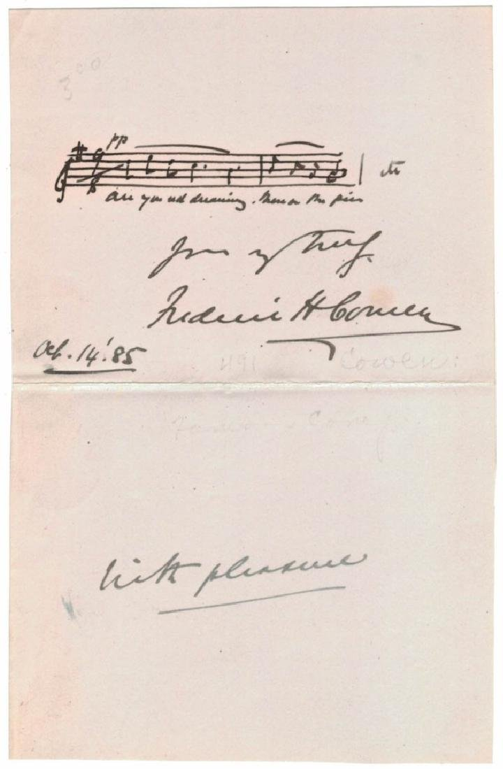 LOT OF (5) MUSICIAN SIGNED MUSICAL QUOTES & NOTES - 8