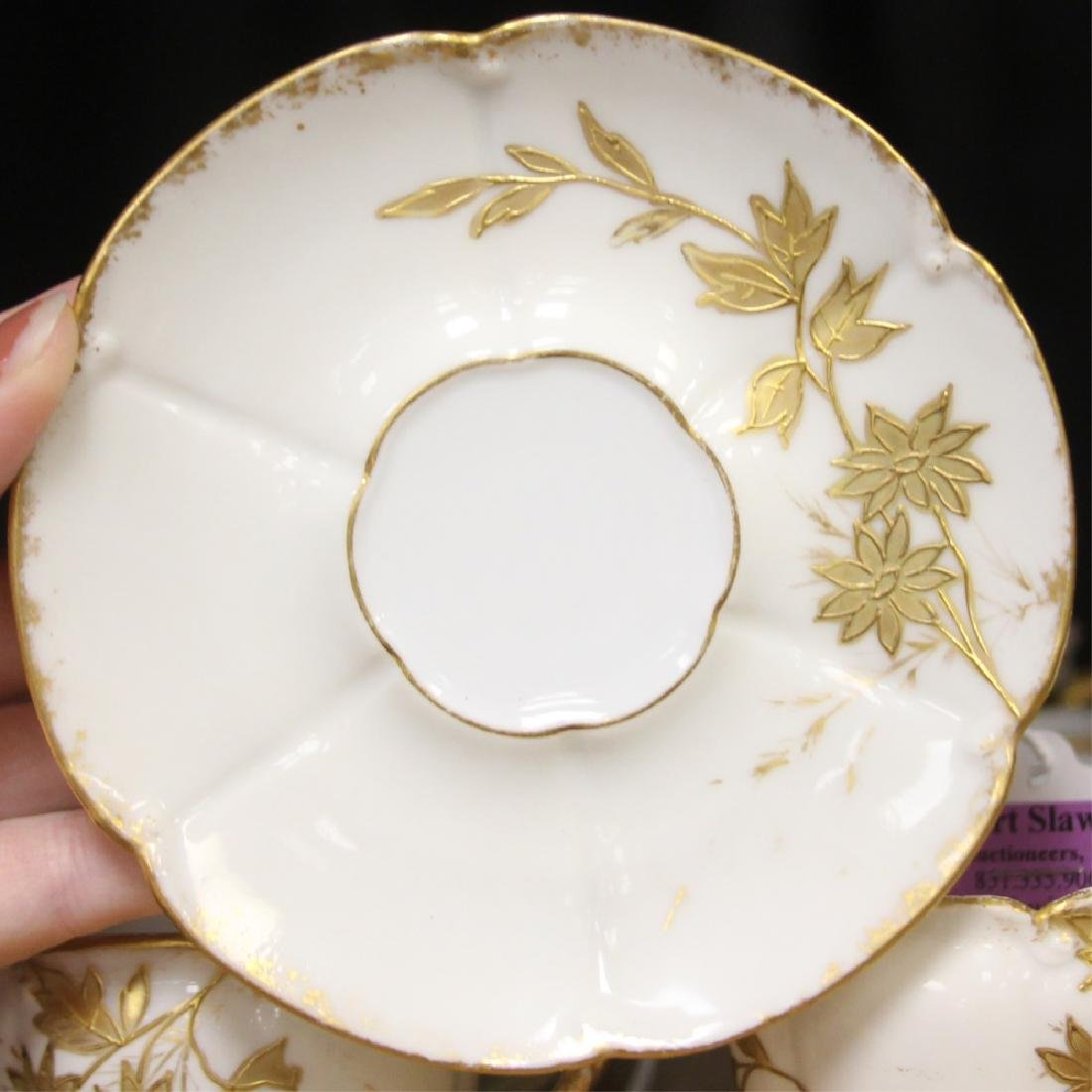 SET OF UNMARKED DEMITASSE CUPS AND SAUCERS - 2