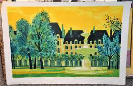YVES GANNE (FRENCH, B. 1931), SIGNED LITHOGRAPH