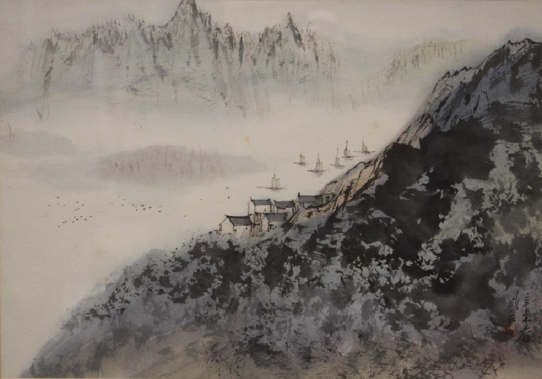 VINTAGE CHINESE WATERCOLOR PAINTING, SIGNED - 2