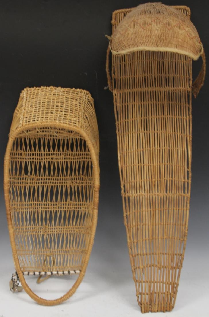 LOT OF (2) NATIVE AMERICAN WOVEN CARRIER BASKETS