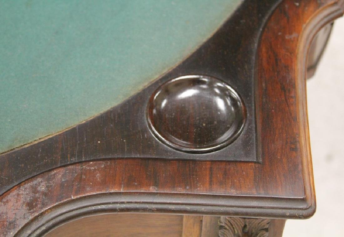 PAIR OF ROSEWOOD GAMES TABLES, NEW YORK MAKER - 7