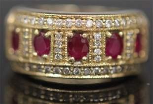 RUBY DIAMOND 14KT GOLD RING