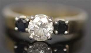 DIAMOND SAPPHIRE 14KT GOLD RING