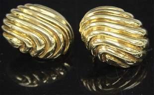 PAIR OF 18KT YELLOW GOLD EARRINGS 226 GRAMS