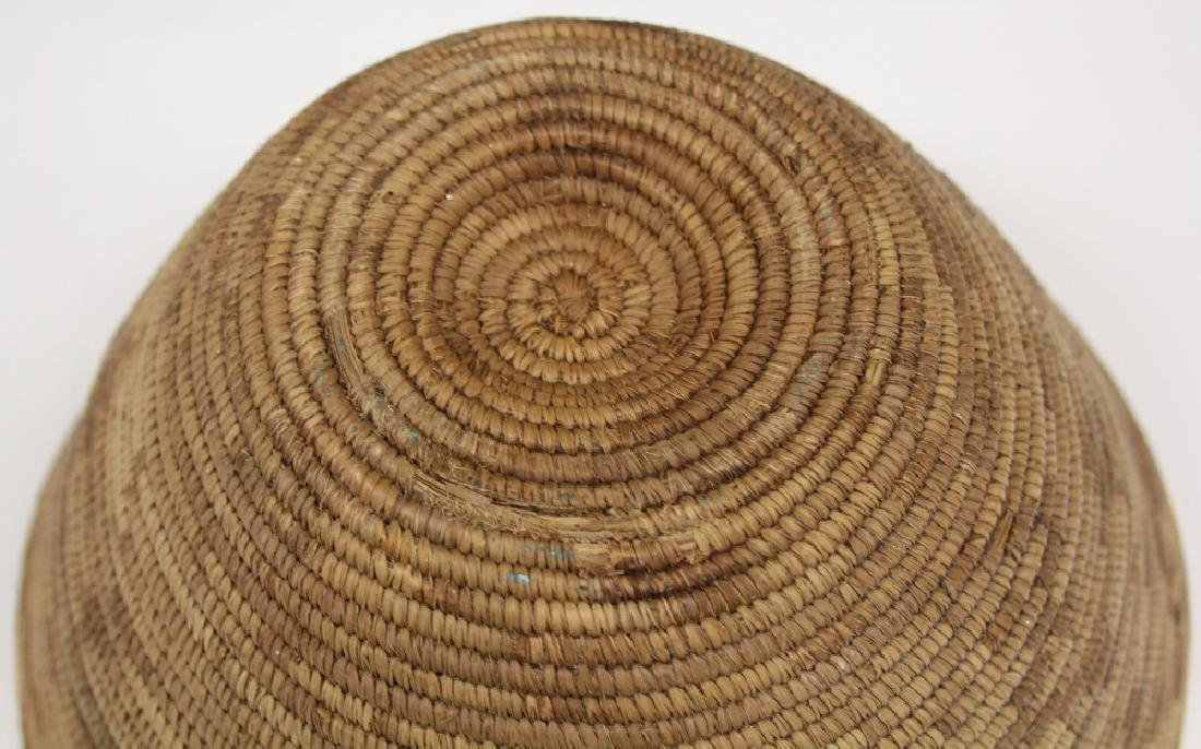 NATIVE AMERICAN WOVEN BASKET, CALIFORNIA - 4