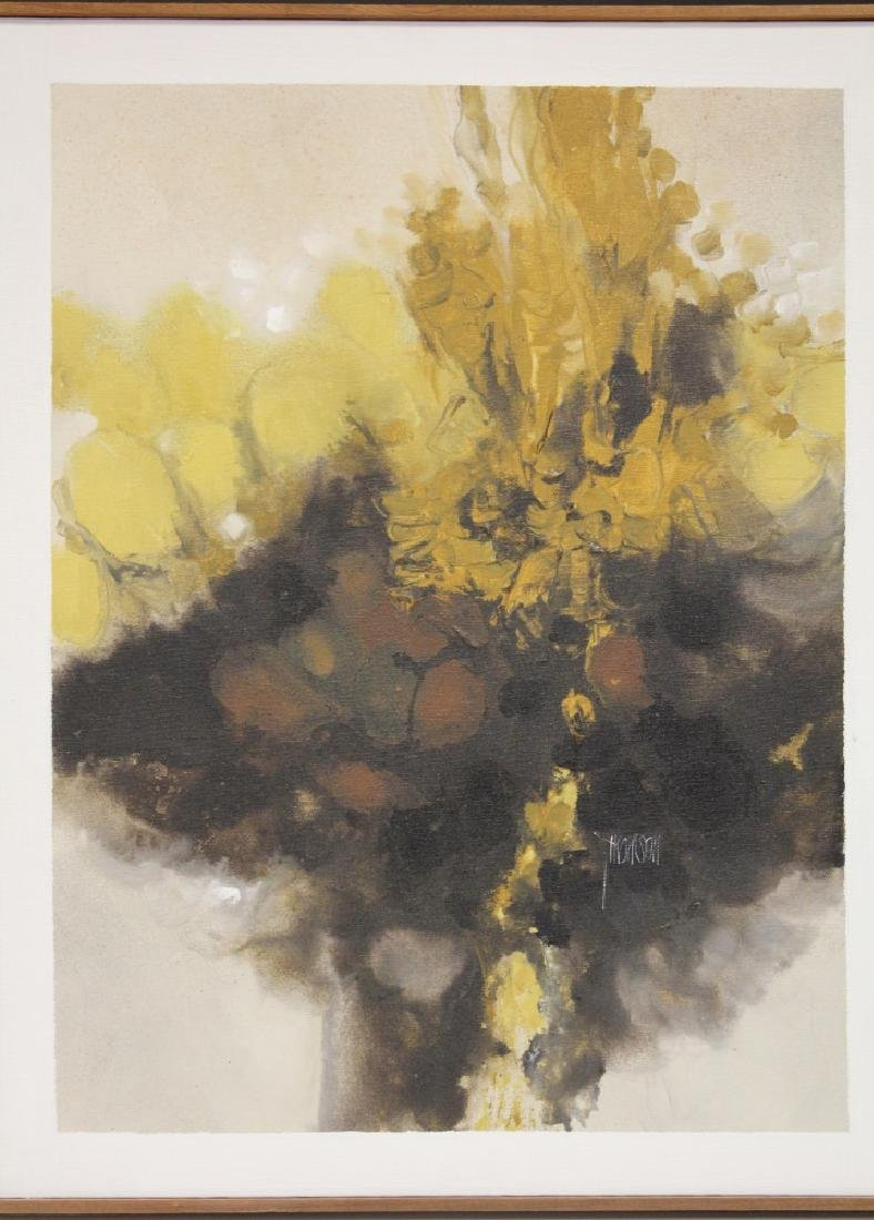 FRAMED ABSTRACT OIL ON CANVAS, ARTIST SIGNED - 2