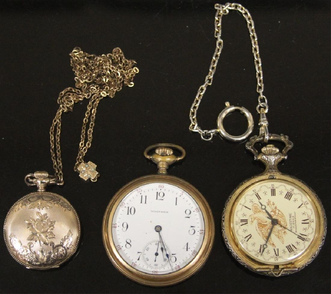 LOT OF (3) VINTAGE POCKET WATCHES