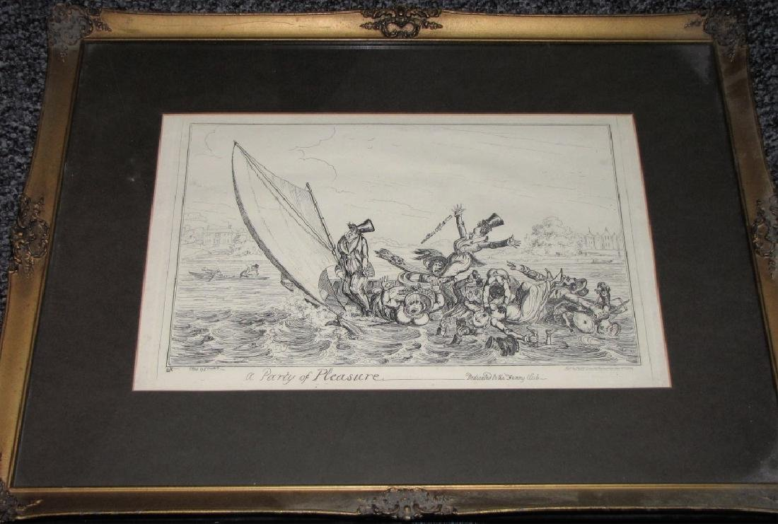 LOT OF (4) POLITICAL ETCHINGS, ENGRAVING & PRINT - 6
