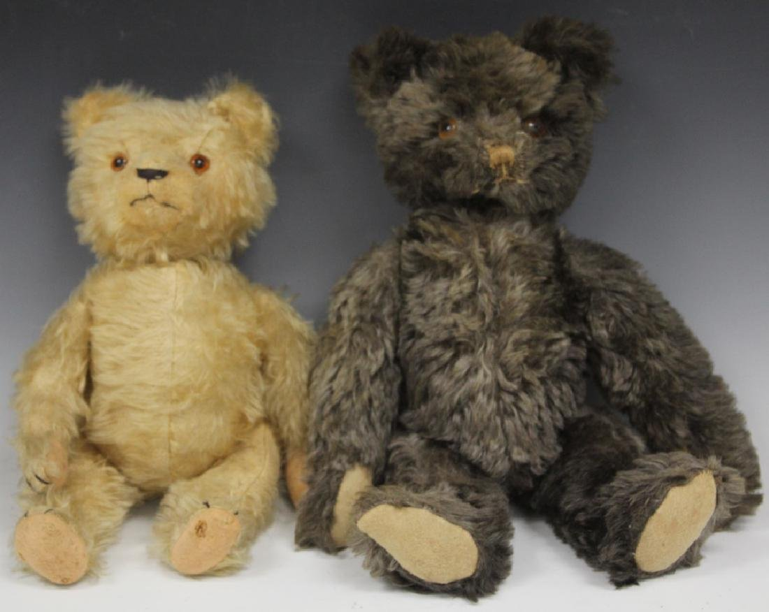 LOT OF (2) VINTAGE TEDDY BEARS, ONE W/ GROWLER