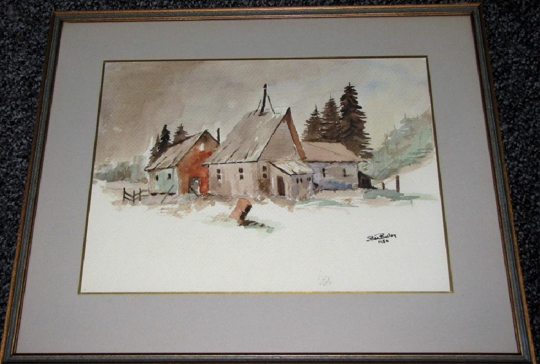 LOT OF (2) FRAMED WATERCOLORS OF LANDSCAPES