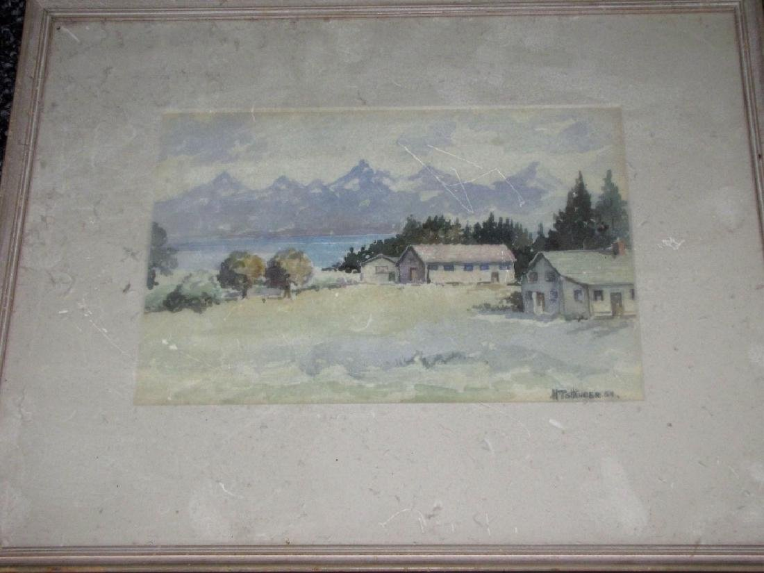 LOT OF (2) FRAMED WATERCOLORS OF LANDSCAPES - 2