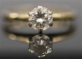 VINTAGE DIAMOND 18KT GOLD ENGAGEMENT RING
