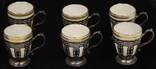 SET OF (6) TIFFANY & CO. STERLING SILVER CUPS