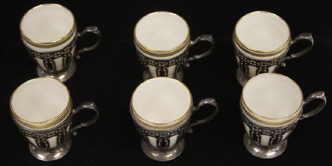 SET OF (6) TIFFANY & CO. STERLING SILVER CUPS - 2