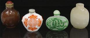 LOT OF (4) VINTAGE CHINESE SNUFF BOTTLES