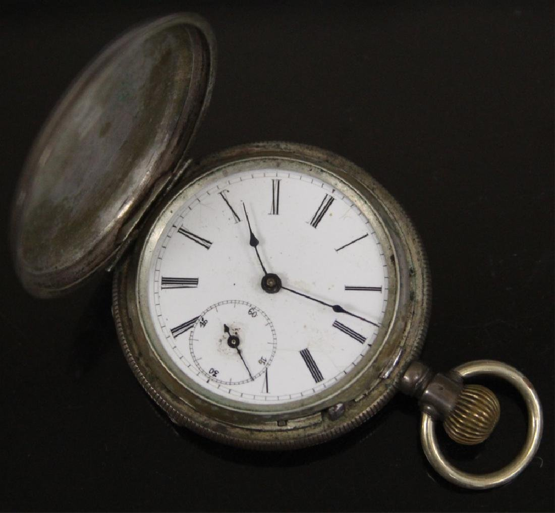 LOT OF (3) SILVER POCKET WATCHES, INCL. ELGIN - 3