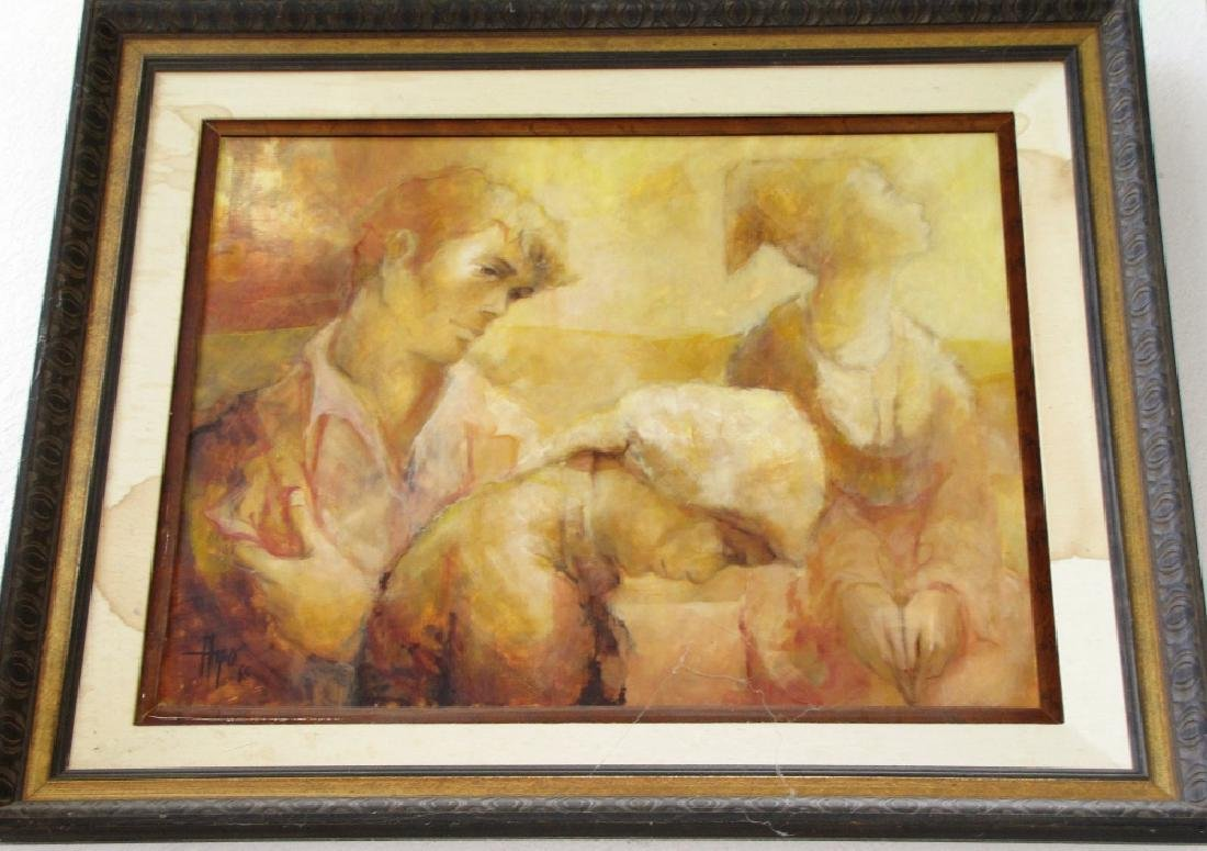 LOT OF (2) PAINTINGS, OIL ON CANVAS