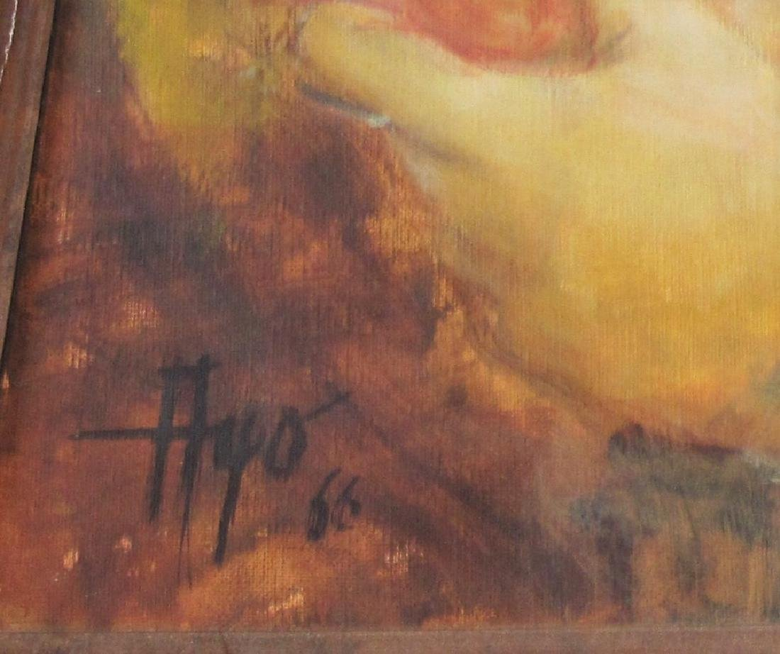 LOT OF (2) PAINTINGS, OIL ON CANVAS - 2