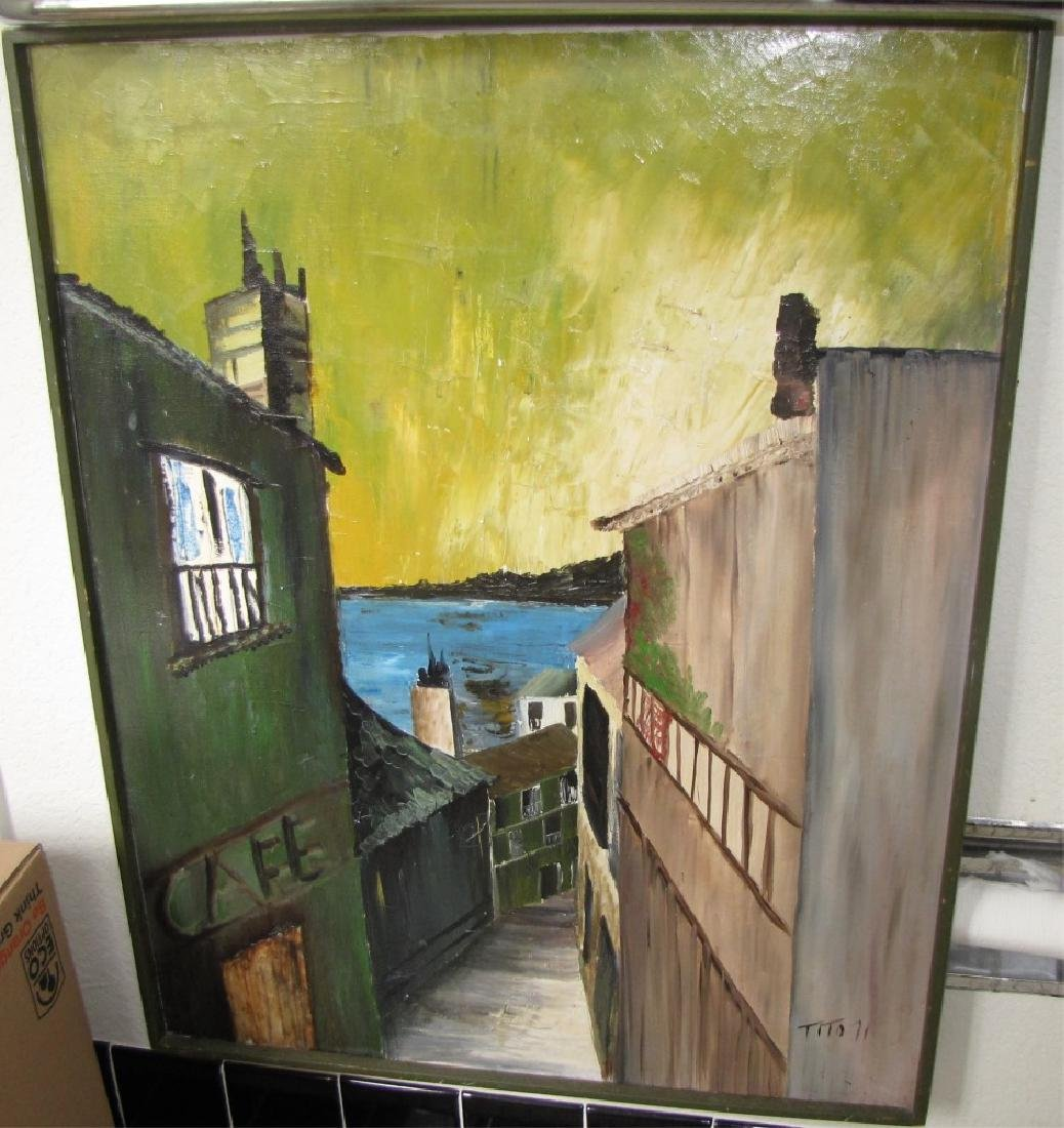 LOT OF (2) PAINTINGS, OIL ON CANVAS - 3