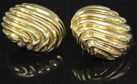 PAIR OF 18KT YELLOW GOLD EARRINGS, 22.6 GRAMS