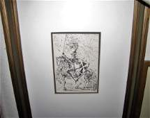 SALVADOR DALI 19041989 ETCHING FRAMED