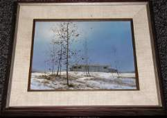 LOT OF (3) PAINTINGS OF WINTER SCENERY & NATURE
