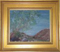 LOT OF (2) OIL PAINTINGS OF LANDSCAPE & COAST