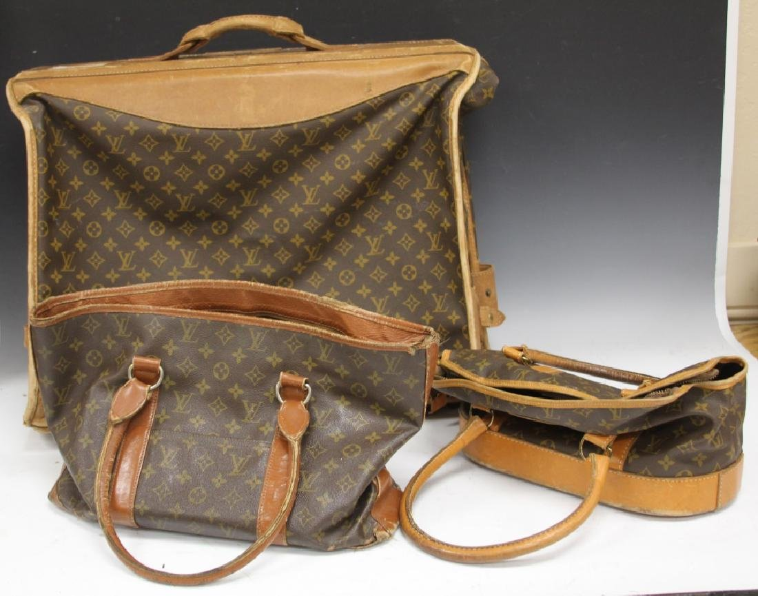 LOT OF (3) VINTAGE LOUIS VUITTON LUGGAGE BAGS