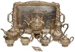 STERLING SILVER 8 PC TEA SERVICE SET YUCHANG