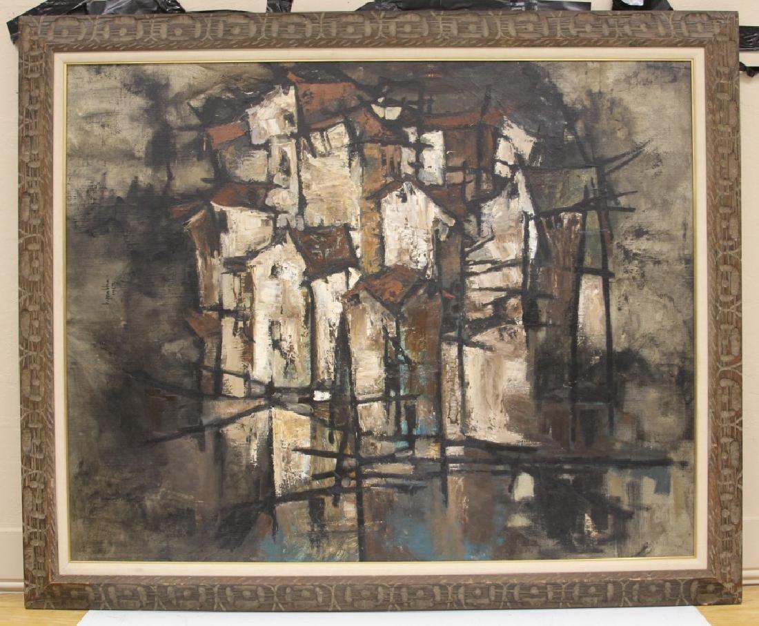 B. PRABHA (1933-2001),  ABSTRACT OIL ON BOARD