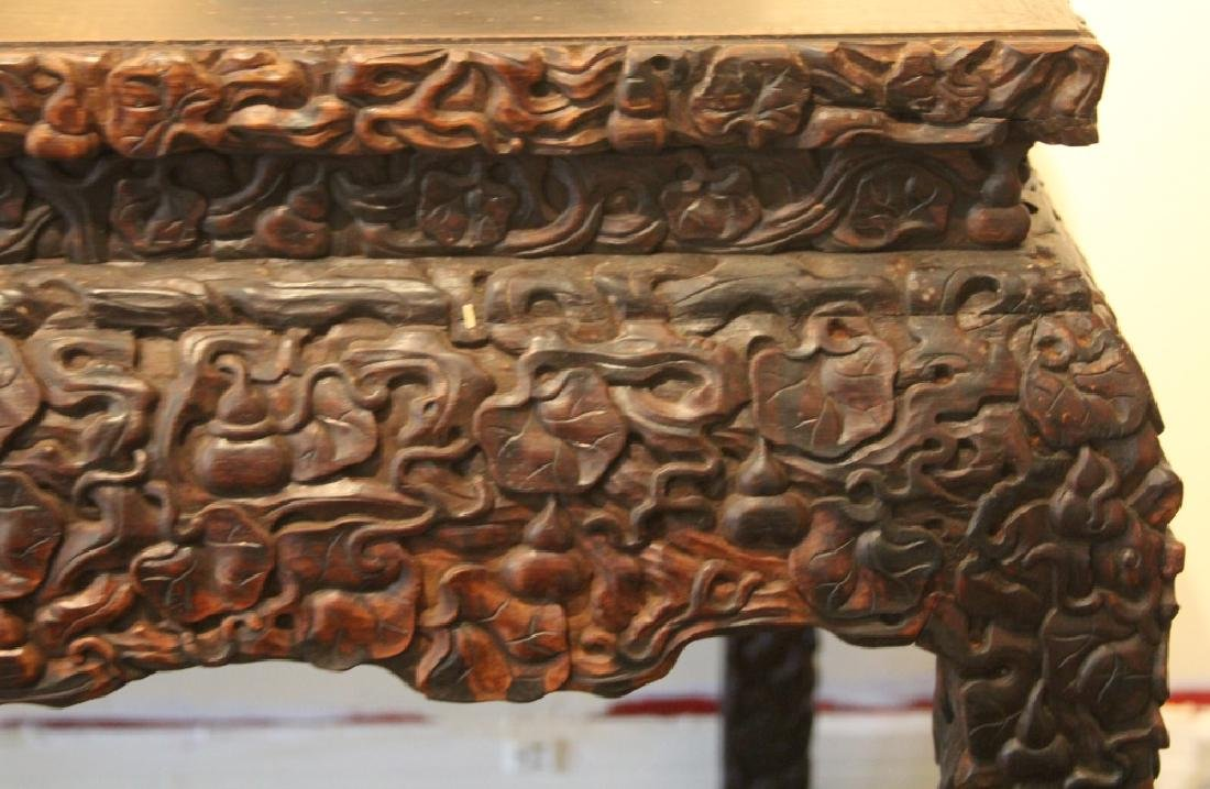"""CHINESE CARVED SCHOLAR'S TABLE, 33"""" H - 2"""