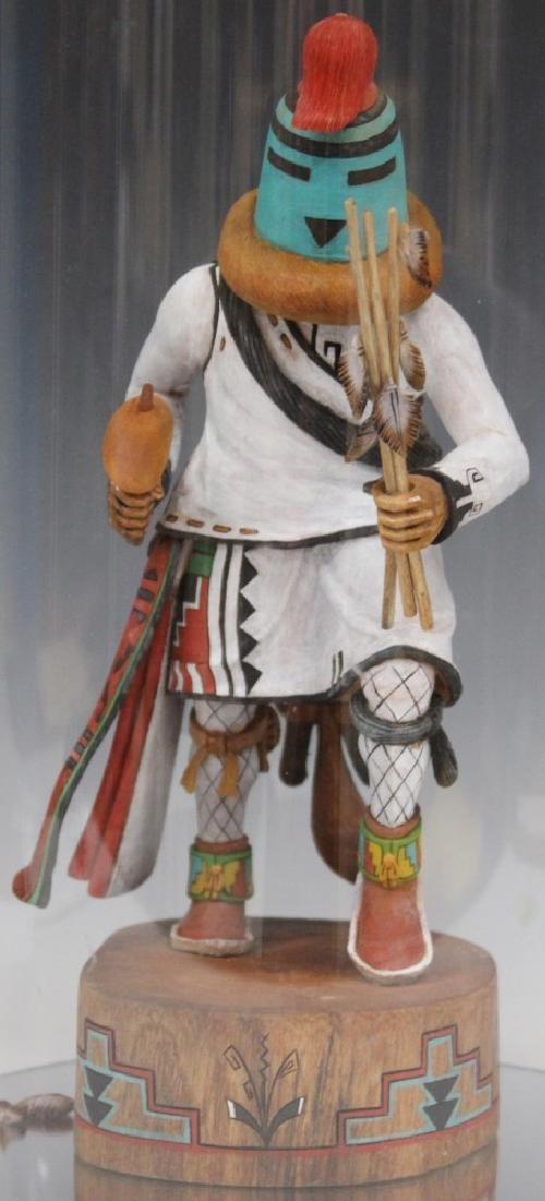 PAINTED KACHINA WITH DISPLAY CASE