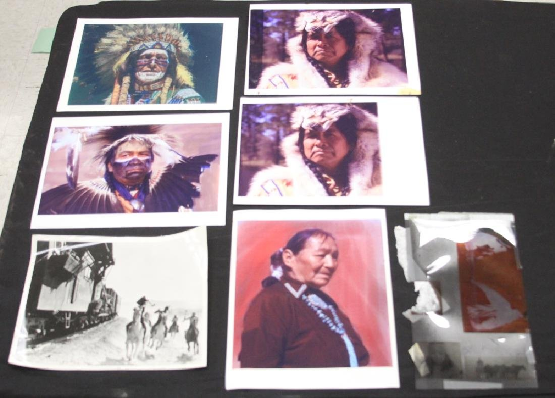 LOT OF (7) NATIVE AMERICAN PHOTOGRAPHS