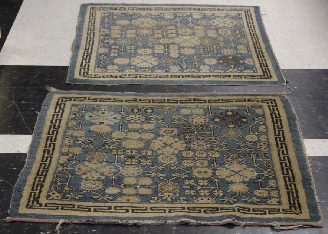 LOT OF (3) CHINESE WOVEN CARPETS, CA. 1900'S