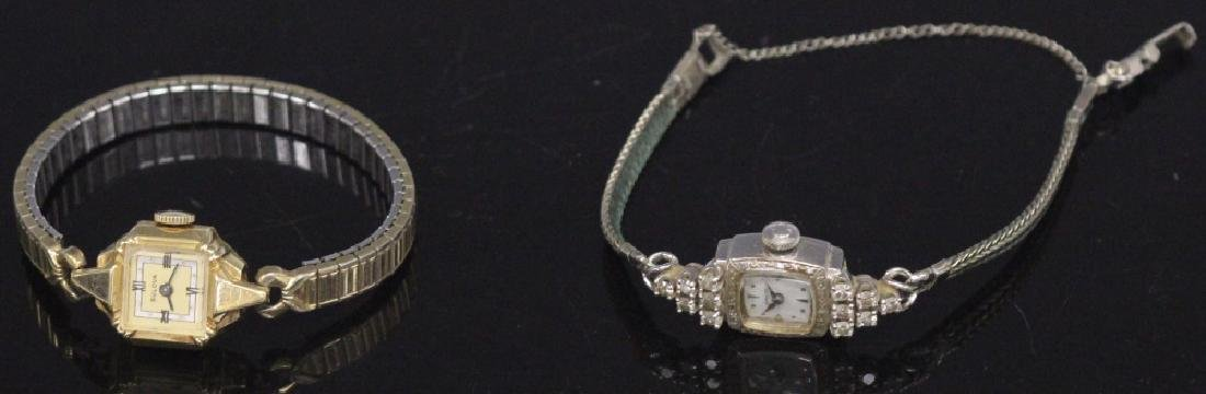 LOT OF (2) 14KT GOLD WATCHES