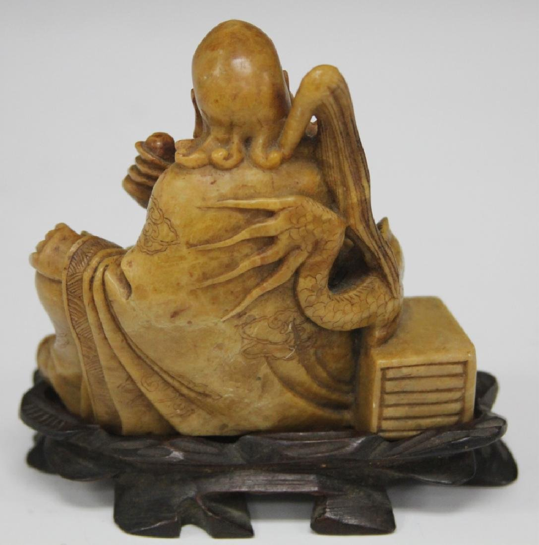 VINTAGE CHINESE CARVED SOAPSTONE FIGURE - 2