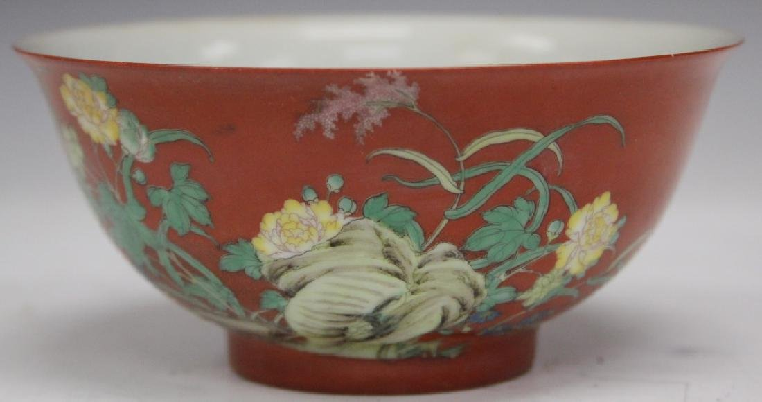 """CHINESE PORCELAIN PAINTED BOWL, 6"""" D"""