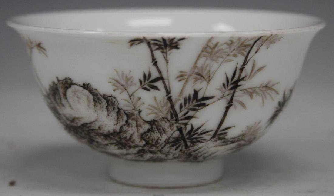"""CHINESE PORCELAIN PAINTED BOWL, 4 1/2"""" D"""