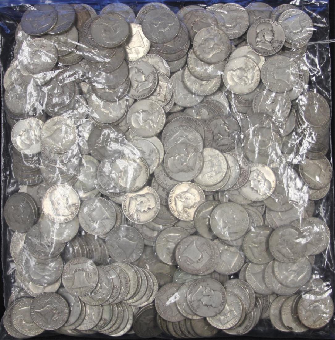 LOT OF (453) BEN FRANKLIN HALF DOLLAR COINS
