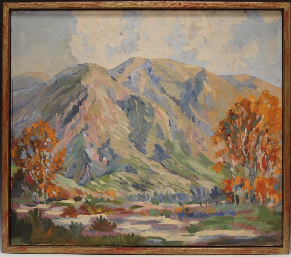 EARLY CALIFORNIA OIL ON CANVAS, UNSIGNED