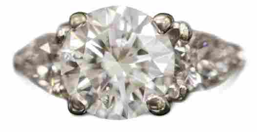 LADY'S 3.7 CTTW DIAMOND RING W/ APPRAISAL & GIA