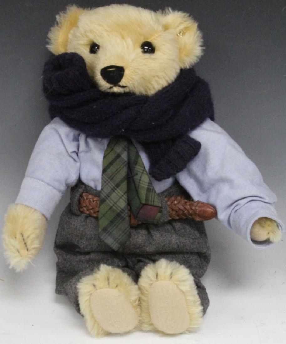 "STEIFF GERMAN JOINTED TEDDY BEAR, 13"" L"